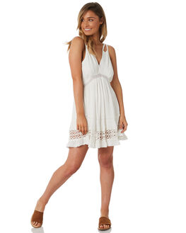 WHITE WOMENS CLOTHING TIGERLILY DRESSES - T382432WHT