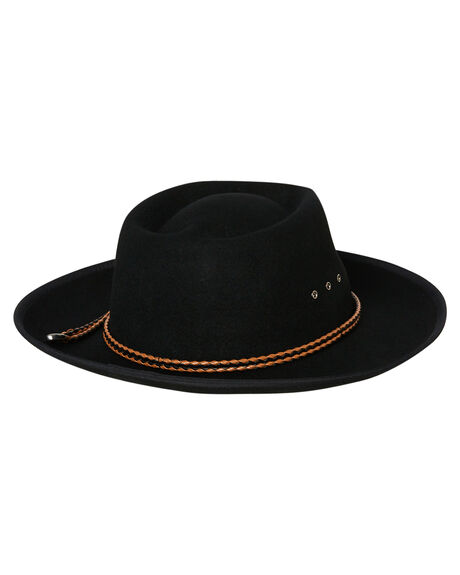 BLACK WOMENS ACCESSORIES RUSTY HEADWEAR - HHL0522BLK