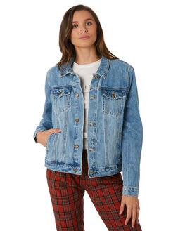 THRIFT BLUE WOMENS CLOTHING THRILLS JACKETS - WTDP-214ETBLU