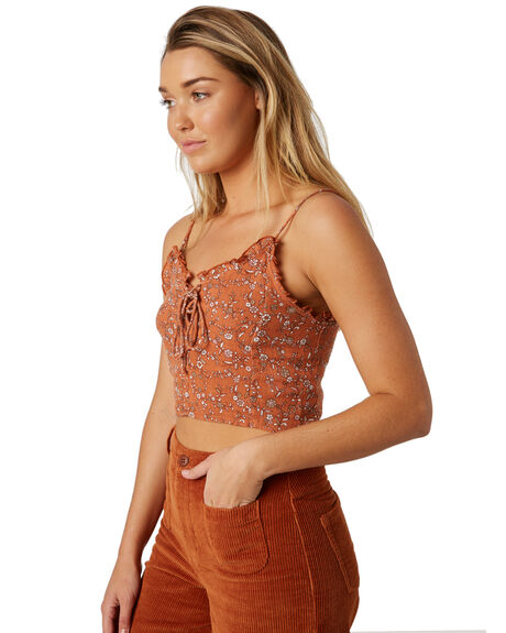 TAN WOMENS CLOTHING THE HIDDEN WAY FASHION TOPS - H8184168TAN