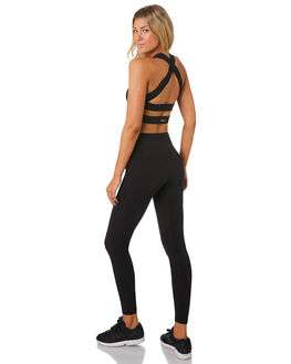 BLACK WOMENS CLOTHING LORNA JANE ACTIVEWEAR - LB0180BLK