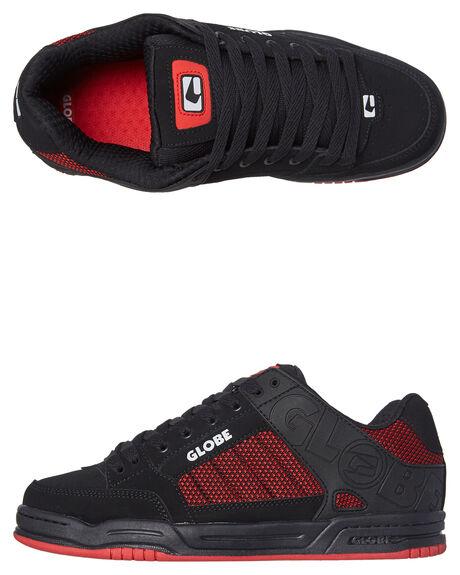 BLACK RED KNIT MENS FOOTWEAR GLOBE SKATE SHOES - GBTILT-20342