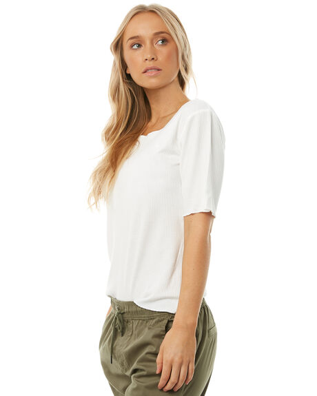 WHITE WOMENS CLOTHING SWELL TEES - S8182002WHITE