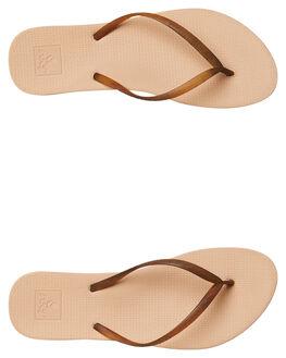 NUDE TORTOISE WOMENS FOOTWEAR REEF THONGS - A361RNTO