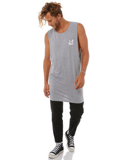 GREY MENS CLOTHING FEAT SINGLETS - FTMTDEL01GRY