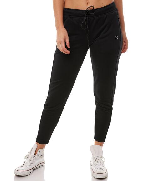 BLACK WOMENS CLOTHING HURLEY PANTS - AGPTHPLT00A