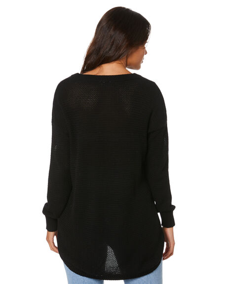 BLACK WOMENS CLOTHING RIP CURL JUMPERS - GSWEL10090