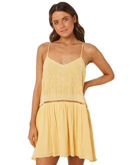 LIGHT YELLOW WOMENS CLOTHING RIP CURL DRESSES - GDRGN14094