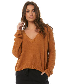 GOLD MARLE WOMENS CLOTHING SOMEDAYS LOVIN KNITS + CARDIGANS - IL18S1804GOLD