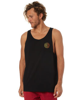 BLACK MENS CLOTHING SWELL SINGLETS - S5184278BLACK