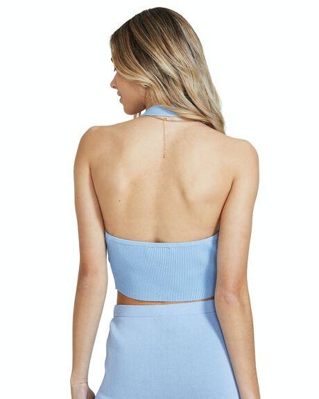 BLUE WOMENS CLOTHING SUBTITLED FASHION TOPS - 38837600023