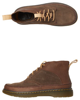 DARK BROWN MENS FOOTWEAR DR. MARTENS BOOTS - SS23926201DKBRNM