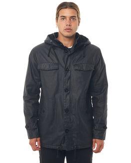 BLACK MENS CLOTHING AFENDS JACKETS - M181582BLK