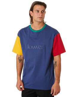GOLD BLUE GREEN RED MENS CLOTHING LOWER TEES - LO19Q4MTS15GBGR