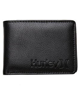 BLACK MENS ACCESSORIES HURLEY WALLETS - AMWAOOSBLK