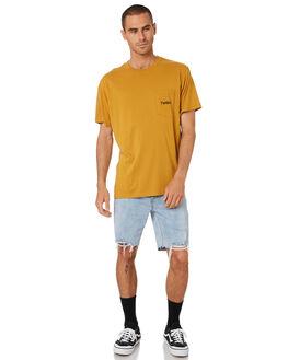 SUNLIGHT YELLOW MENS CLOTHING THRILLS TEES - TR9-118KSUNYW