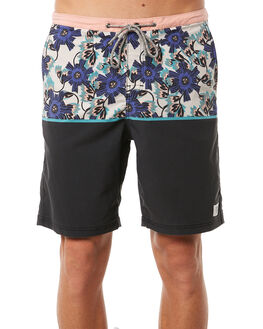 BLACK MENS CLOTHING KATIN BOARDSHORTS - TRJUN01BLK