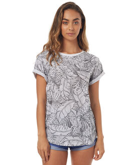 WHITE WOMENS CLOTHING BILLABONG TEES - 6572013WHT