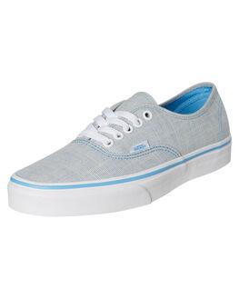ALASKAN BLUE WOMENS FOOTWEAR VANS SNEAKERS - SSVNA38EMVJPABLUW