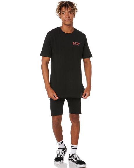 BLACK MENS CLOTHING LOST TEES - LTE-20405-BLK