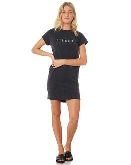 WASHED BLACK WOMENS CLOTHING SILENT THEORY DRESSES - 6022049WBLK
