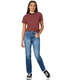 LILY BLUE WOMENS CLOTHING ROLLAS JEANS - 125943772