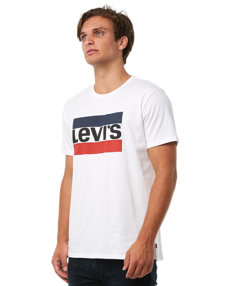 WHITE MENS CLOTHING LEVI'S TEES - 39636-0000