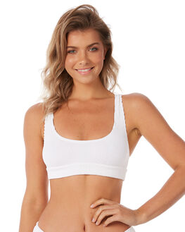 WHITE WOMENS SWIMWEAR BOND EYE BIKINI TOPS - BOUND038WHT
