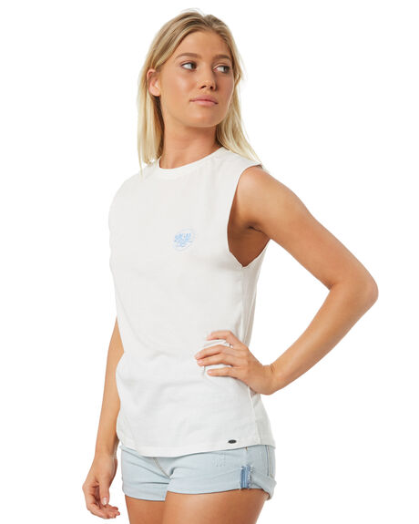 WHITE OUTLET WOMENS O'NEILL SINGLETS - 4720901-WHT