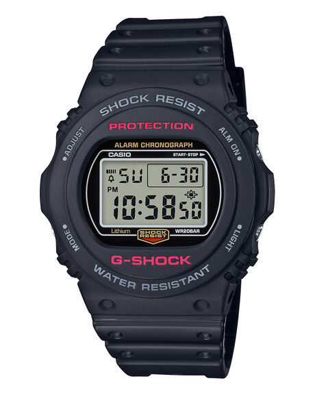 BLACK  RED MENS ACCESSORIES G SHOCK WATCHES - DW5750E-1DBLKRD