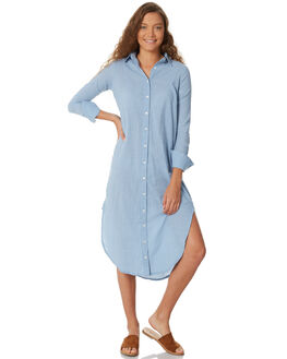 FRENCH BLUE STRIPE WOMENS CLOTHING RUE STIIC DRESSES - SW18-27BSFBSTR