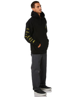 BLACK MENS CLOTHING HUF JUMPERS - PF00338-BLK