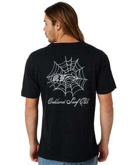 BLACK MENS CLOTHING OAKLAND SURF CLUB TEES - SU18-T2-BBLK