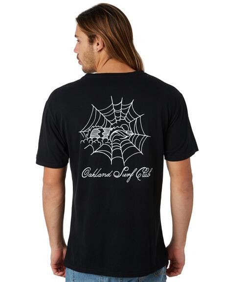 BLACK OUTLET MENS OAKLAND SURF CLUB TEES - SU18-T2-BBLK