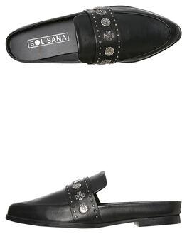 BLACK WOMENS FOOTWEAR SOL SANA FLATS - SS181W421BLK