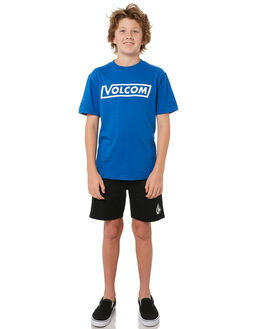 TRUE BLUE KIDS BOYS VOLCOM TEES - C3541702TRB