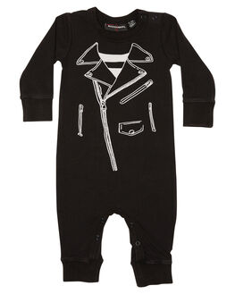 BLACK WASH KIDS BABY ROCK YOUR BABY CLOTHING - BBB1816-BBLKW