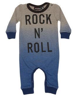BLUE OATMEAL STRIPE KIDS BABY ROCK YOUR BABY CLOTHING - BBB1816-RNBOSTR