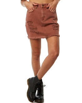 RUST WOMENS CLOTHING THRILLS SKIRTS - WTDP-316HRUST