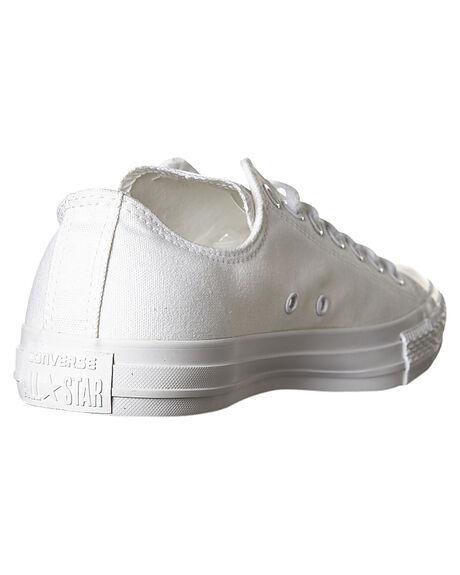 WHITE MONOCHROME MENS FOOTWEAR CONVERSE SNEAKERS - SS1U647WHTMM