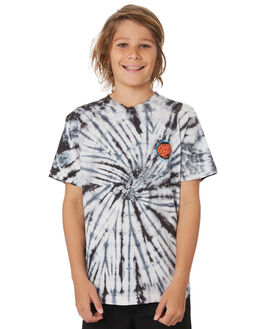 BLACK SPIRAL KIDS BOYS SANTA CRUZ TOPS - SC-YTD9265BKSPR