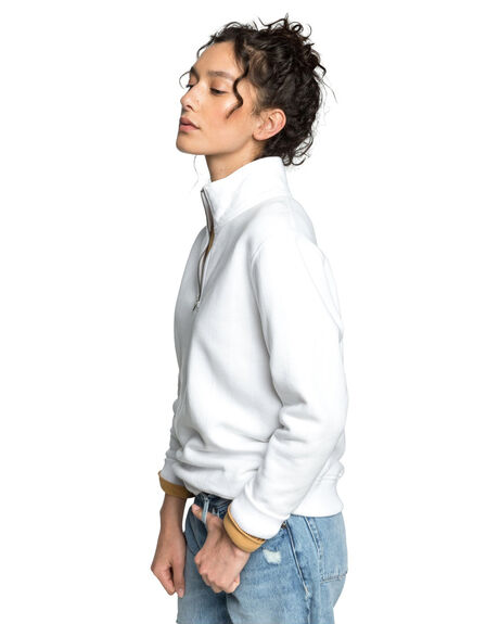 WHITE WOMENS CLOTHING QUIKSILVER JUMPERS - EQWFT03012-WBB0