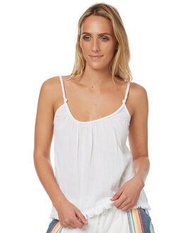 WHITE WOMENS CLOTHING RIP CURL FASHION TOPS - GSHZT31000