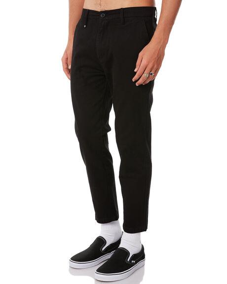 BLACK MENS CLOTHING THRILLS PANTS - TW8-401BBLK