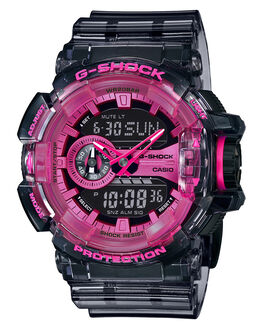 TRANSPARENT PINK MENS ACCESSORIES G SHOCK WATCHES - GA400SK-1A4TPNK