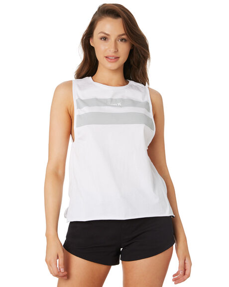 WHITE WOMENS CLOTHING HURLEY SINGLETS - CK9338100