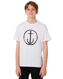 WHITE KIDS BOYS CAPTAIN FIN CO. TEES - BT172200WHT