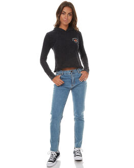 BLACK WOMENS CLOTHING ALL ABOUT EVE TEES - 6401032BLK