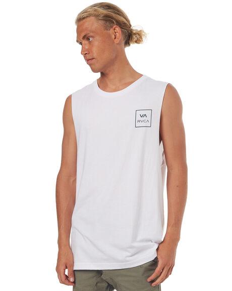 WHITE MENS CLOTHING RVCA SINGLETS - R172013WHT