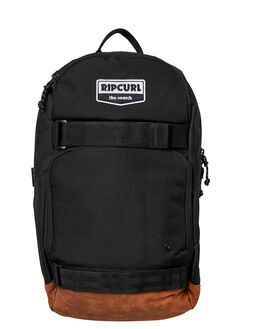 BLACK MENS ACCESSORIES RIP CURL BAGS + BACKPACKS - BBPYO10090